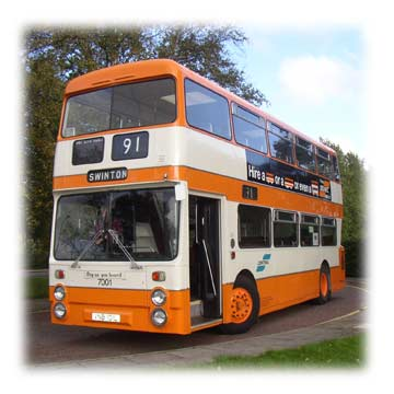 7001 Leyland Atlantean, the first Park Royal bodied               SELNEC standard to go into production